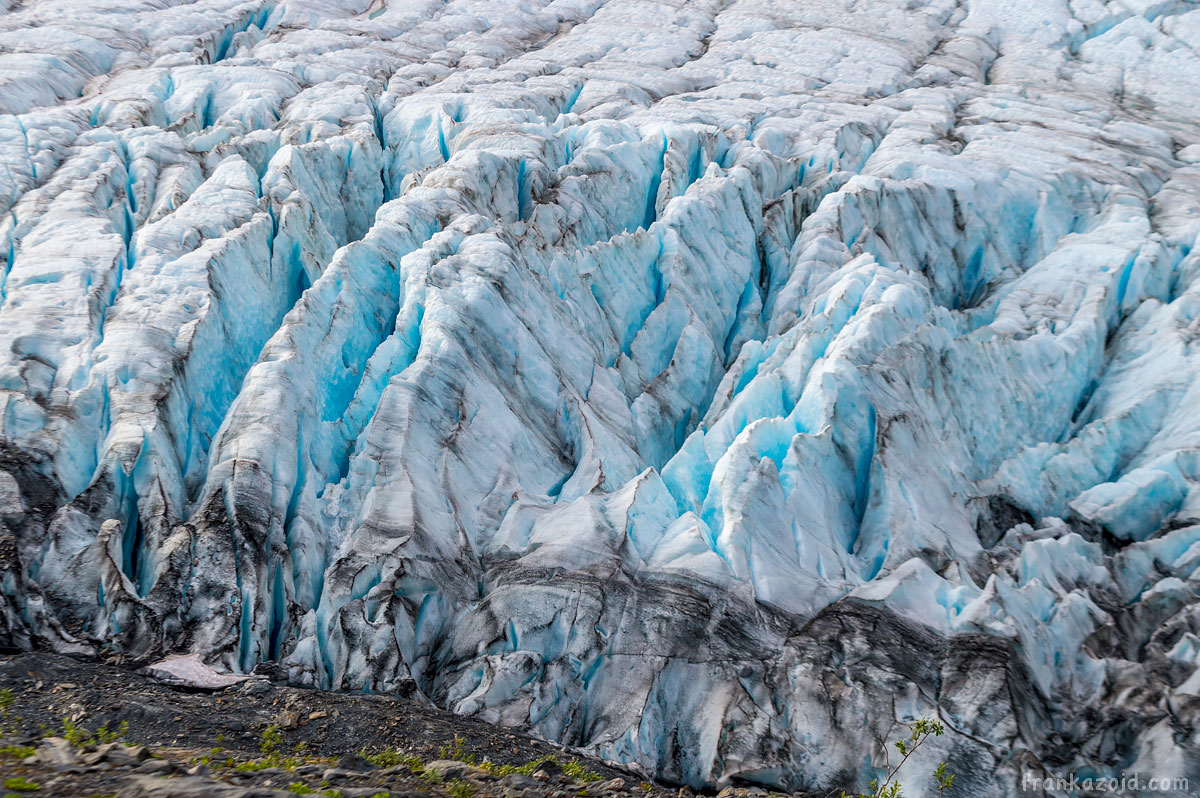 Worthington glacier closeup