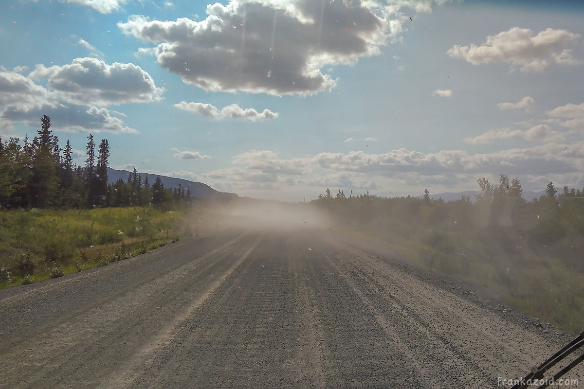 Drity road in the middle of nowhere in Canada