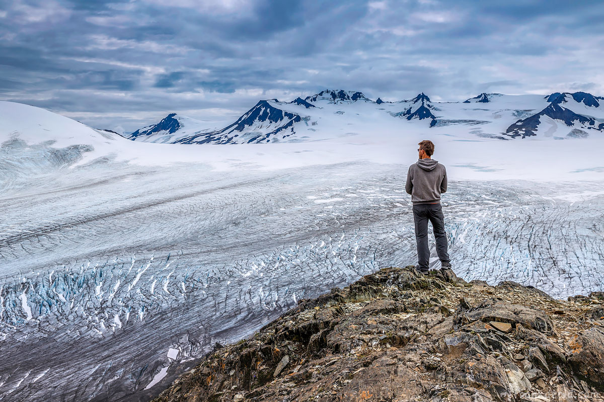 Frankazoid overlooking Exit glacier