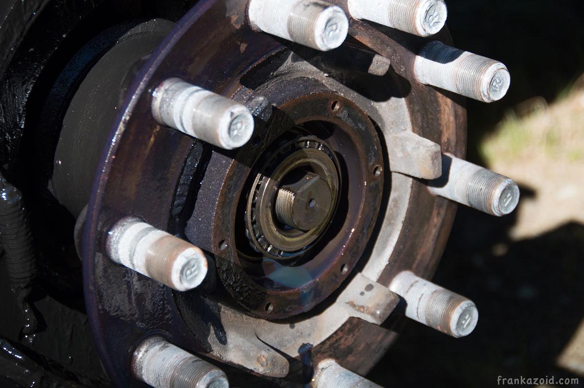 Motorhome DIY hub wheel-bearing