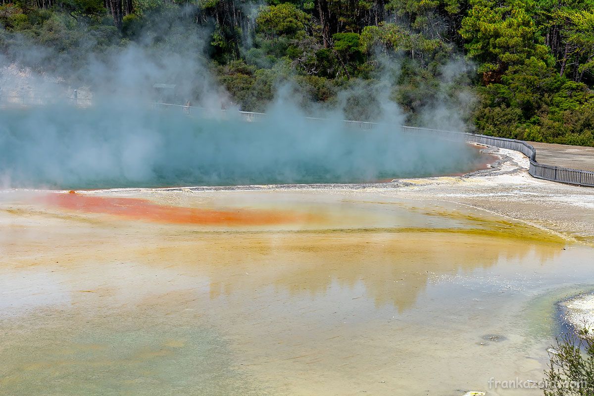 Trip to New Zealand, Rotorua, volcanic valley, crater lakes, Wai-o-tapu, geothermal, wonderland, Waimangu, year 2020